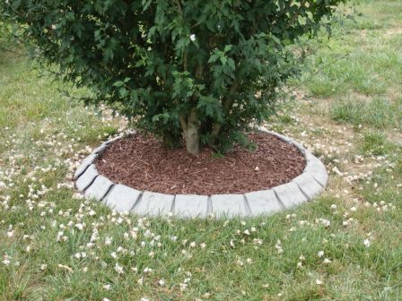 Decorative stone garden edging 6 39 diameter tree ring for Decorative stone garden border