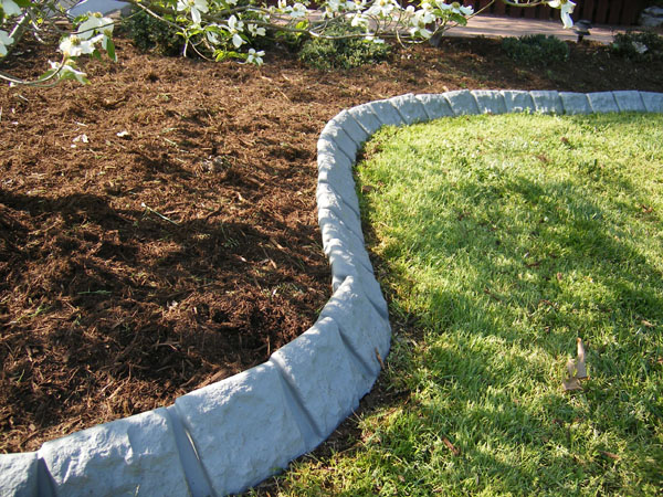 Edge Garden Landscape Rocks : Decorative stone garden edging at yard product