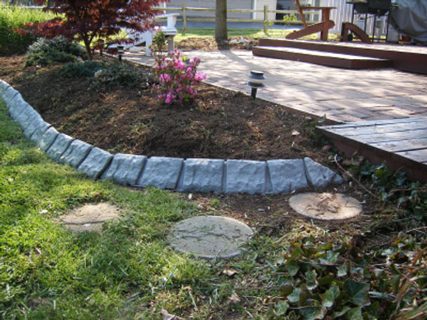 Decorative Stone Edging : Decorative quot stone garden edging