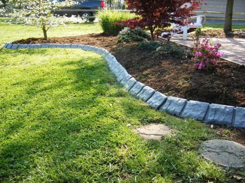 Decorative Stone Edging : Decorative quot stone garden edging border on pinterest