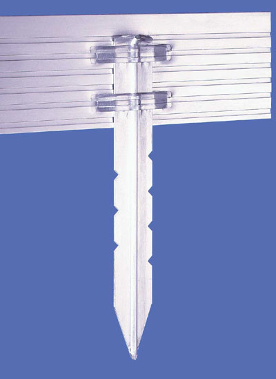 "Home - PRO® Aluminum Landscape Edging - EXTRA Aluminum Stakes & End Adapters - AS18 18"" Extra Aluminum Stake"